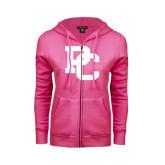 ENZA Ladies Fuchsia Fleece Full Zip Hoodie-PC