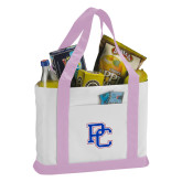 Contender White/Pink Canvas Tote-PC