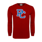 Cardinal Long Sleeve T Shirt-PC Distressed