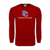 Cardinal Long Sleeve T Shirt-Cheerleading