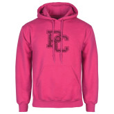 College Fuchsia Fleece Hoodie-PC Hot Pink Glitter