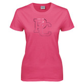 Ladies Fuchsia T Shirt-PC Foil