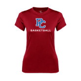 Ladies Syntrel Performance Cardinal Tee-Basketball