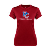 Ladies Syntrel Performance Cardinal Tee-Volleyball