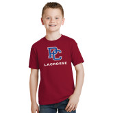 Youth Cardinal T Shirt-Lacrosse