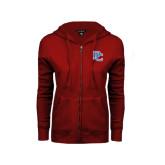 ENZA Ladies Cardinal Fleece Full Zip Hoodie-PC