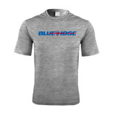 Performance Grey Heather Contender Tee-Blue Hose