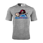 Performance Grey Heather Contender Tee-Mascot