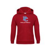 Youth Cardinal Fleece Hood-Volleyball