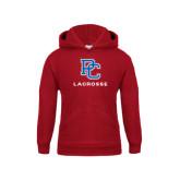 Youth Cardinal Fleece Hood-Lacrosse