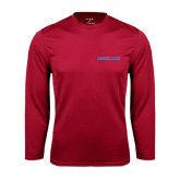 Syntrel Performance Cardinal Longsleeve Shirt-Blue Hose