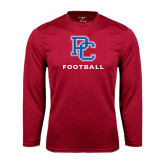 Syntrel Performance Cardinal Longsleeve Shirt-Football