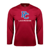 Syntrel Performance Cardinal Longsleeve Shirt-Lacrosse