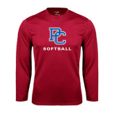 Syntrel Performance Cardinal Longsleeve Shirt-Softball