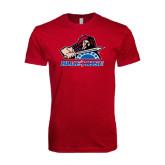 Next Level SoftStyle Cardinal T Shirt-Mascot