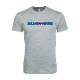 Next Level SoftStyle Heather Grey T Shirt-Blue Hose