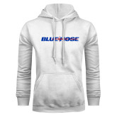 College White Fleece Hoodie-Blue Hose