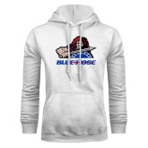 College White Fleece Hoodie-Mascot