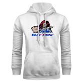 White Fleece Hood-Mascot