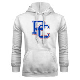 College White Fleece Hoodie-PC Distressed