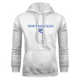 White Fleece Hood-Presbyterian College w PC