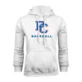 White Fleece Hood-Baseball