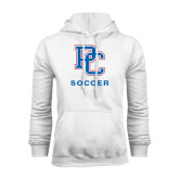 White Fleece Hood-Soccer
