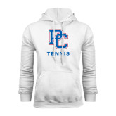 White Fleece Hood-Tennis