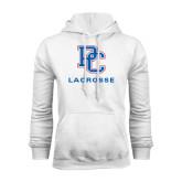 White Fleece Hood-Lacrosse