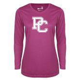 Ladies Syntrel Performance Raspberry Longsleeve Shirt-PC