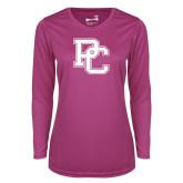 Ladies Syntrel Performance Raspberry Longsleeve Shirt-PC