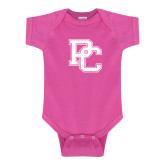 College Fuchsia Infant Onesie-PC
