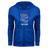 College ENZA Ladies Royal Fleece Full Zip Hoodie-Mom