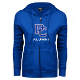 College ENZA Ladies Royal Fleece Full Zip Hoodie-Alumni