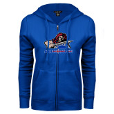 College ENZA Ladies Royal Fleece Full Zip Hoodie-Mascot