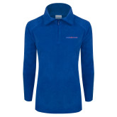 Columbia Ladies Half Zip Royal Fleece Jacket-Blue Hose