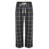 Black/Grey Flannel Pajama Pant-Blue Hose