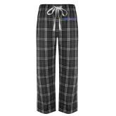 Black/Grey Flannel Pajama Pant-Blue Hose