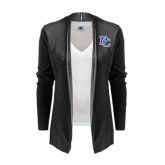 Ladies Black Open Front Cardigan-PC