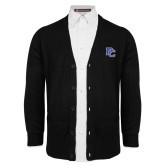 Black V Neck Cardigan w/Pockets-PC