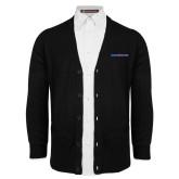College Black V Neck Cardigan w/Pockets-Blue Hose