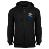 College Black Fleece Full Zip Hoodie-PC