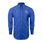 Mens Royal Oxford Long Sleeve Shirt-PC
