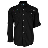 Columbia Bahama II Black Long Sleeve Shirt-Blue Hose