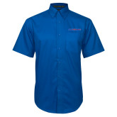 Royal Twill Button Down Short Sleeve-Blue Hose