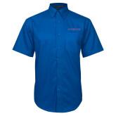 Royal Twill Button Down Short Sleeve-Blue Hose