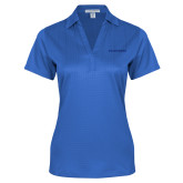 College Ladies Royal Performance Fine Jacquard Polo-Blue Hose Tone