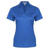 Ladies Royal Performance Fine Jacquard Polo-Blue Hose Tone