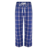 College Royal/White Flannel Pajama Pant-Blue Hose