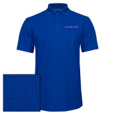 College Royal Dry Zone Grid Polo-Blue Hose